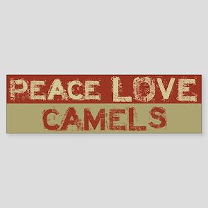 Peace Love Camels Bumper Sticker