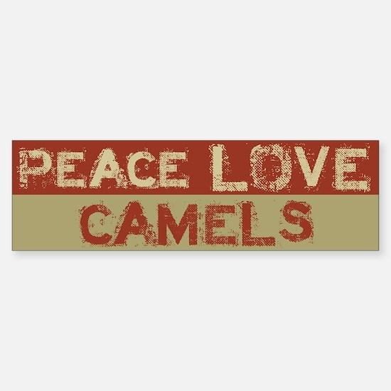 Peace Love Camels Bumper Bumper Bumper Sticker