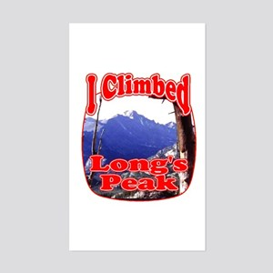 I Climbed Long s Peak Rectangle Sticker