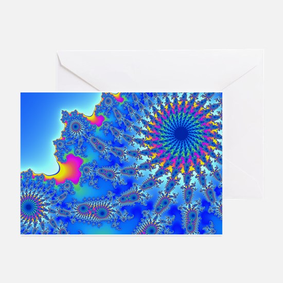Ferris Wheel Fractal Greeting Cards (Pk of 10)