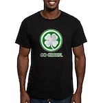 St Patricks Day Go Green Funn Men's Fitted T-Shirt