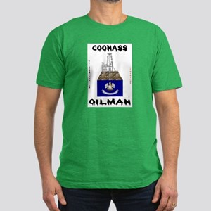 Coonass Oilman Men's Fitted T-Shirt (dark)