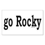 go Rocky Rectangle Sticker