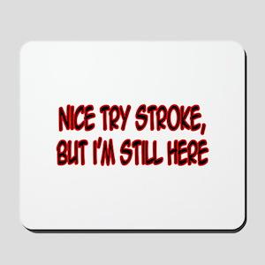 """""""Nice Try Stroke..."""" Mousepad"""