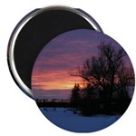 "Winter Sunset 0020 2.25"" Magnet (10 pack)"