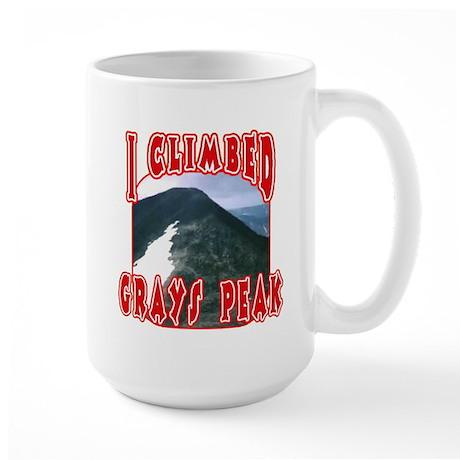 I Climbed Grays Peak Large Mug
