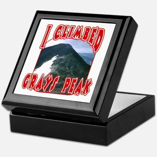 I Climbed Grays Peak Keepsake Box