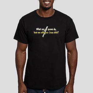 Jesus Stick Men's Fitted T-Shirt (dark)