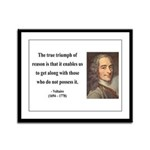 Voltaire 14 Framed Panel Print