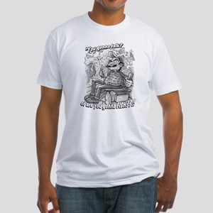 """""""You gonna talk or fish?"""" Fitted T-Shirt"""