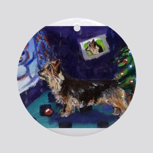 AUSTRALIAN TERRIER christmas  Ornament (Round)