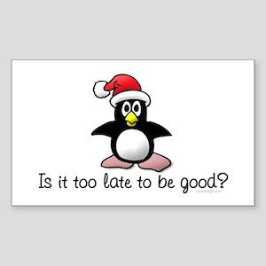 Christmas Penguin Rectangle Sticker