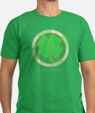 Shamrock Men's Fitted T-Shirt (dark)