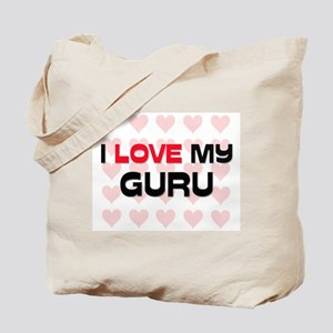 I Love My Guru Tote Bag