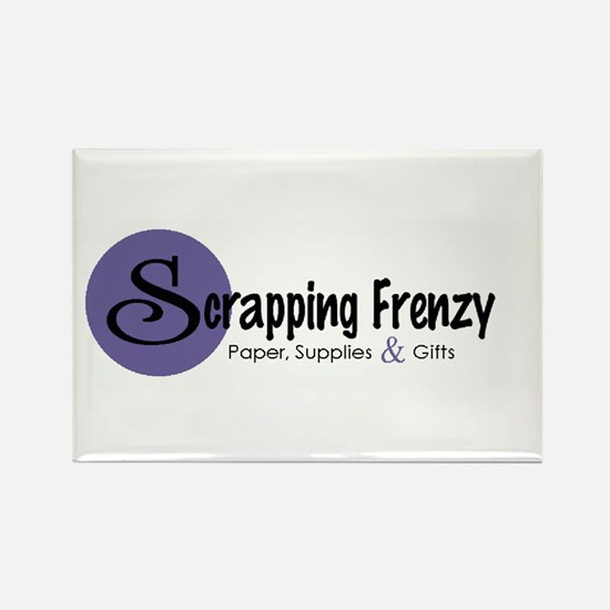 Scrapping Frenzy Rectangle Magnet (10 pack)