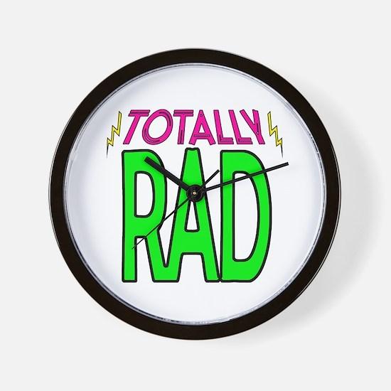 'Totally Rad' Wall Clock
