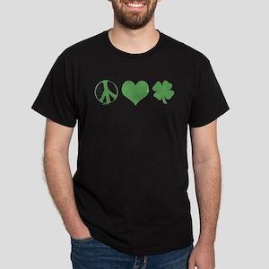 Peace Love Irish Dark T-Shirt