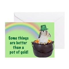 Bunny St. Patrick's Day Greeting Card