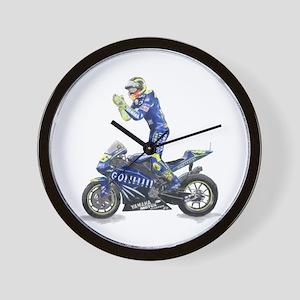 Racing Motorcycle & Rider #1 Wall Clock