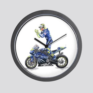 Racing Motorcycle & Rider #1 Wall Clock
