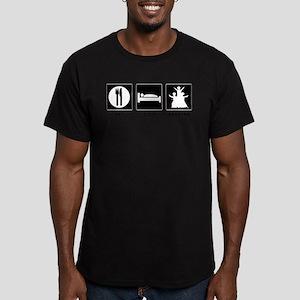 Eat. Sleep. Bhangra. Men's Fitted T-Shirt (dark)