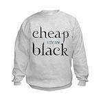 Cheap is the New Black - Kids Sweatshirt