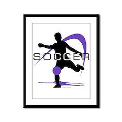 Soccer Framed Panel Print