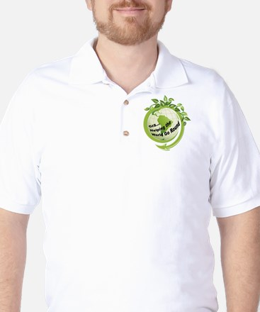 World Round Clear Golf Shirt