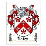 Bates Coat of Arms Small Poster
