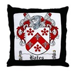 Bates Coat of Arms Throw Pillow