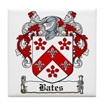 Bates Coat of Arms Tile Coaster