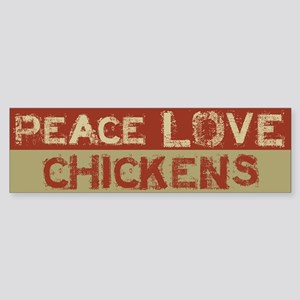 Peace Love Chickensper Sticker