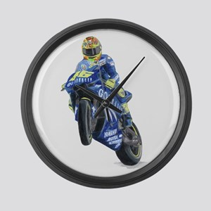Racing Biker #2 Large Wall Clock