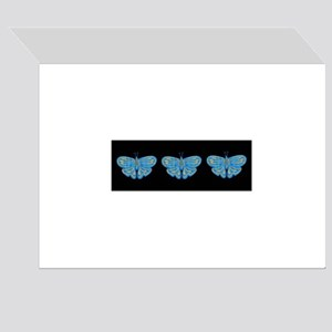 Blue & Gold Butterfly Birthday Card