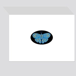Blue & Gold Butterfly Greeting Card