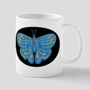 Blue & Gold Butterfly Mug