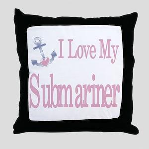 i love my submariner Throw Pillow