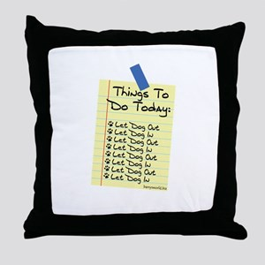 To Do List Throw Pillow