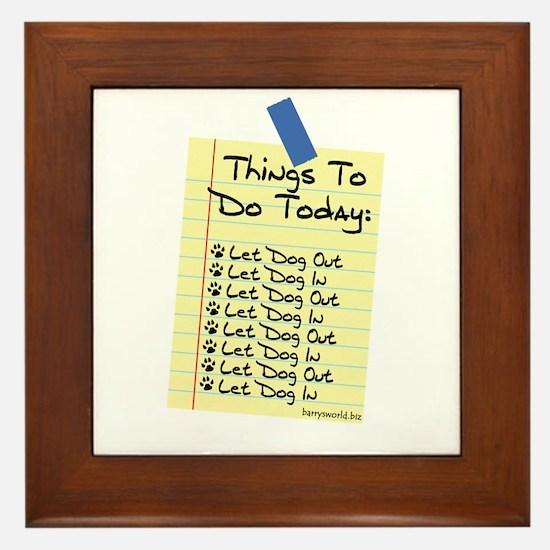 To Do List Framed Tile