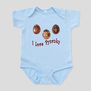 I Love Pysanky Infant Bodysuit