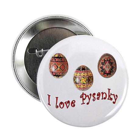 "I Love Pysanky 2.25"" Button"