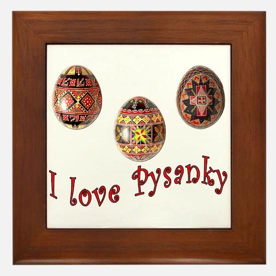 I Love Pysanky Framed Tile