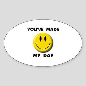 HAPPY DAY Oval Sticker