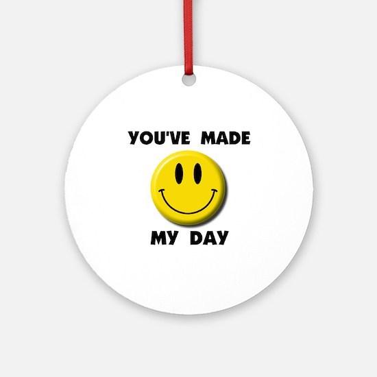 HAPPY DAY Ornament (Round)