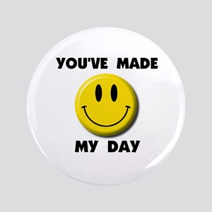 """HAPPY DAY 3.5"""" Button"""