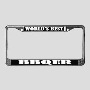 World's Best BBQer License Plate Frame