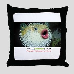 DONAL (PUFFERFISH) TRUMP Throw Pillow