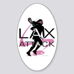 Lacrosse Oval Sticker