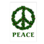 Peace Wreath Holiday Postcards (Package o