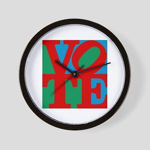 VOTE (3-color) Wall Clock